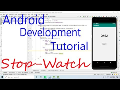Android Development Tutorial : Stop-Watch Implementation thumbnail