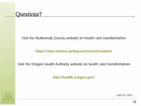 Multnomah County works to transform health care