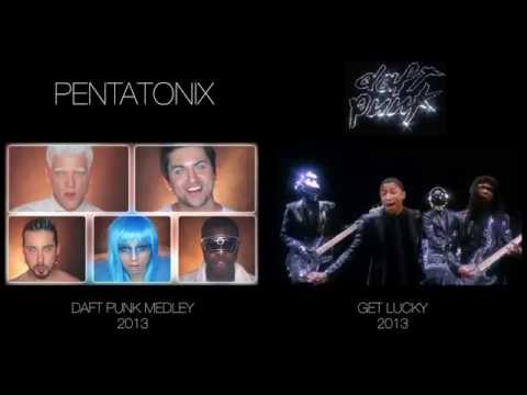 Daft Punk Medley - Pentatonix (side by side)