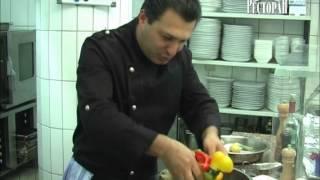 Судак, запеченный с овощами BELUGA RESTAURANT DUESSELDORF VIDEOREZEPTE.wmv