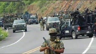 Мексика: бандиты напали на полицейский конвой