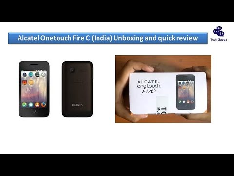 Alcatel Onetouch Fire C (India) Unboxing and quick review