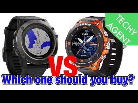 Casio Pro Trek Smart WSD F-20 vs Garmin Fenix 5X