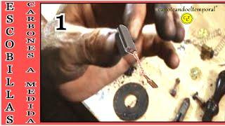 hacer escobillas o carbones a medida en amoladora, muy fácil ( 1ª parte )
