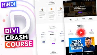 HINDI  DIVI Full Crash Course | Getting Started with DIVI Visual Builder for Beginners | Class 1