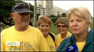 Blisters for Bread charity walk in Cape Town