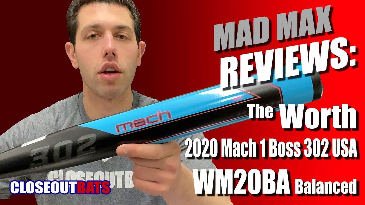 2020 MACH 1 Boss 302 Balanced USA//ASA Slowpitch Softball Bat WM20BA