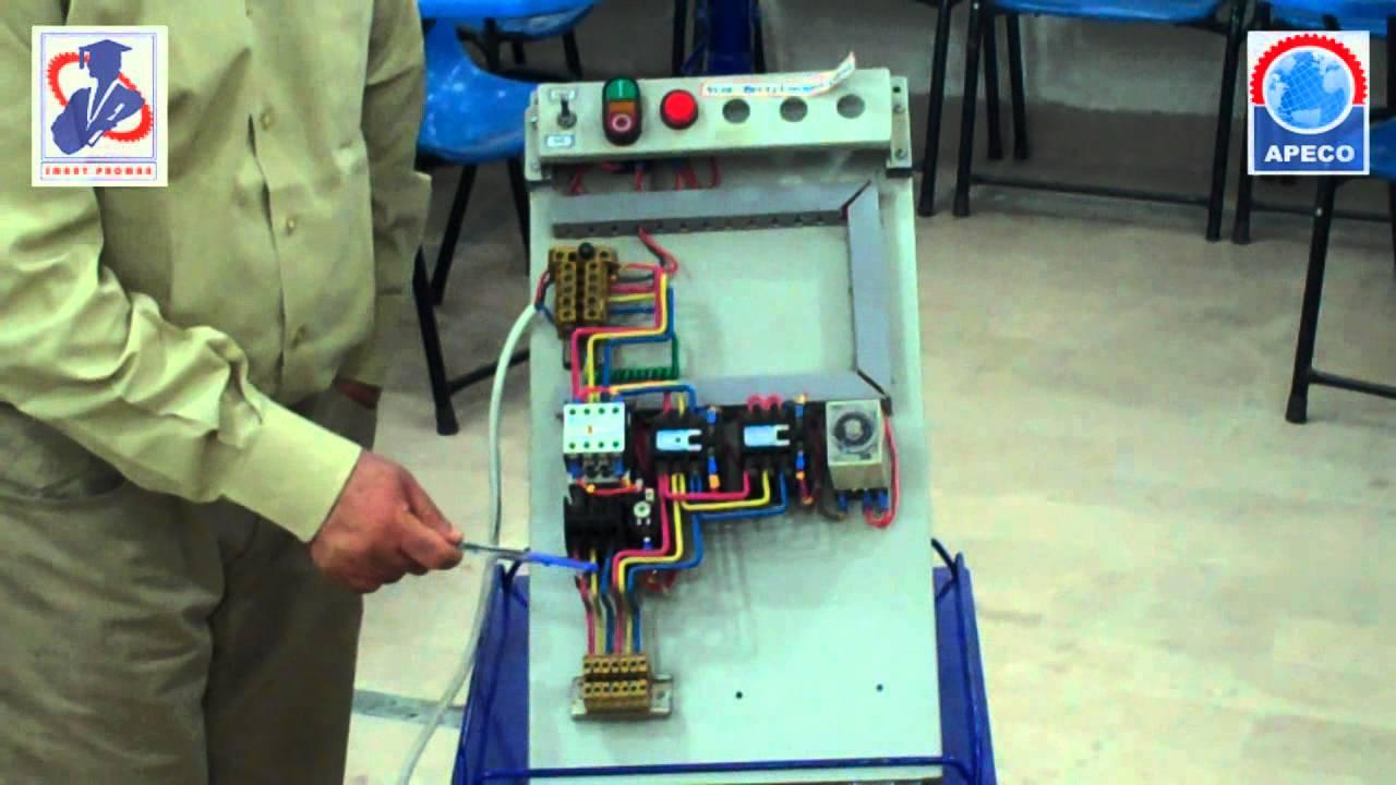 Motor Starter Control Wiring Diagram 3 Phase Star Delta