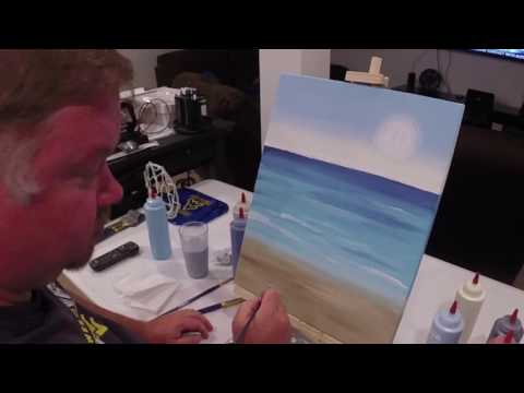 """Red Wine on the Beach"" time lapse painting by iPaint Parties"