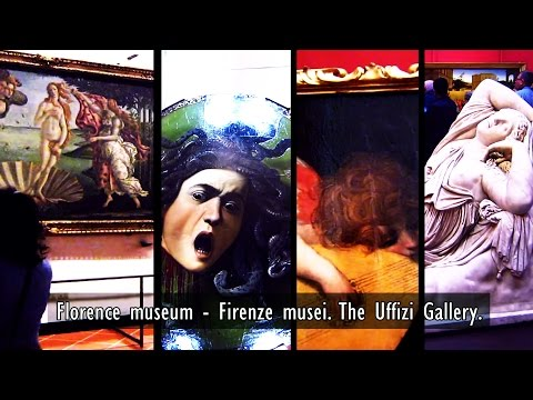 Visit Italy Florence museum - Firenze musei. The Uffizi Gallery in Italy Holidays.