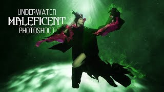 Underwater Maleficent Photoshoot BTS