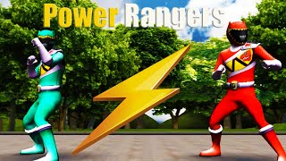 Могучие Пауэр Рейнджерс!Супер Игра как мультфильм для самых маленьких детей 2015!