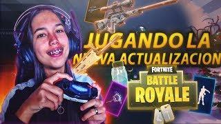 PROBANDO EL NUEVO OBJETO LEGENDARIO DE FORTNITE BATTLE ROYALE EN DIRECTO!!!! @ThaNix229
