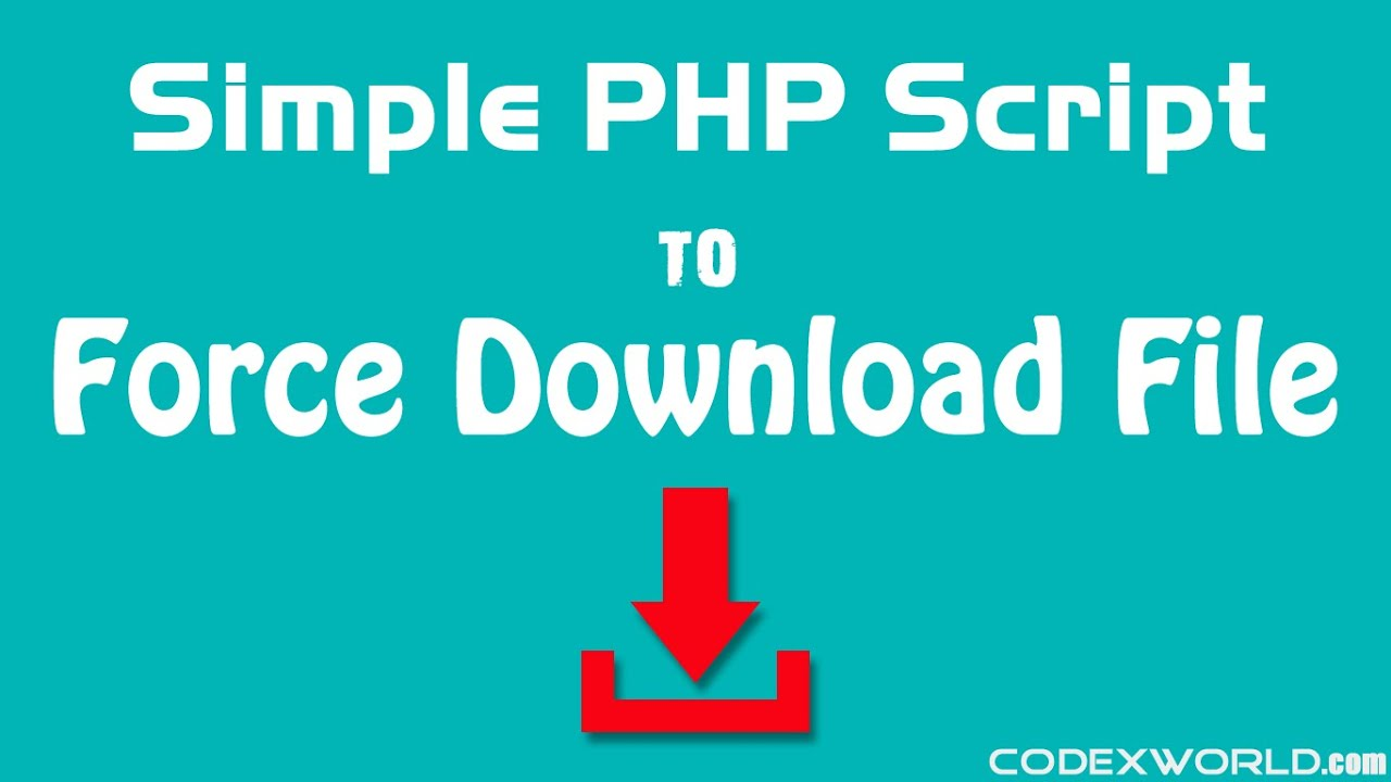How to Force Download File in PHP - CodexWorld