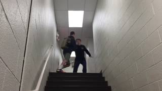 some guy gets pushed down the stairs film studies project 2