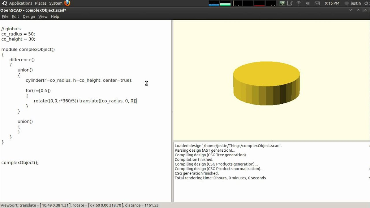 Creating Complex Objects in OpenSCAD