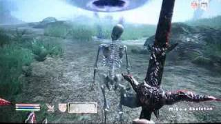 Oblivion:How To Get The BEST Sword at level one!
