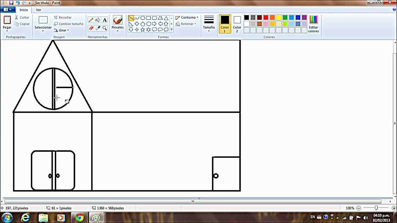 Tutorial de como dibujar una casa en paint youtube for Programa para distribuir una casa
