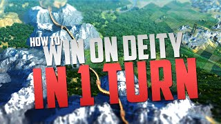 Civilization 5 - How To Win On Deity In 1 Turn - Brave New World Bug