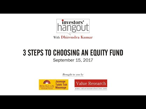 3 steps to choosing an equity fund