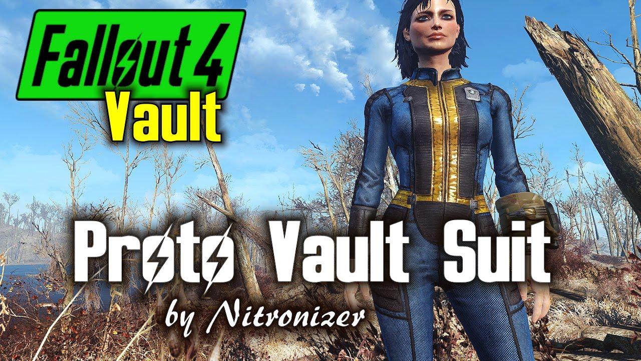 proto vault suit fallout 4 texture mod youtube