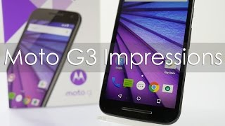 Moto G3 3rd Gen Impressions after 3 days of usage