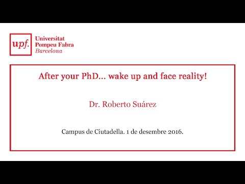 After your PhD... wake up and face reality!