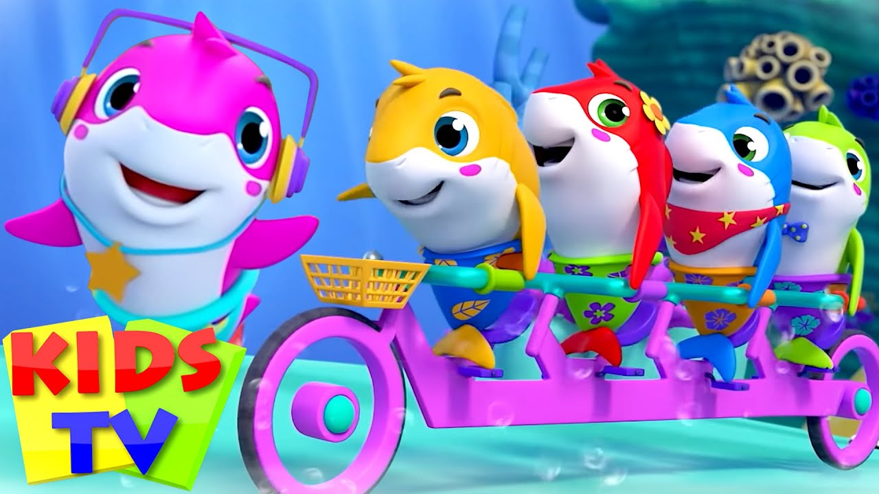 Five Little Sharks Went Swimming One Day   Nursery Rhymes & Baby Songs   Super Supremes   Kids Tv