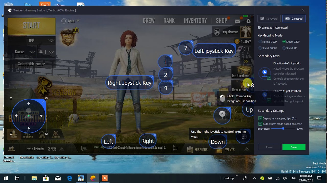 pubg emulator keyboard controls not working after update