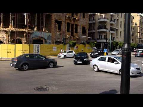 Everyone has the right of way... Traffic in Beirut