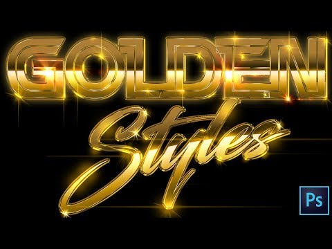 Adobe Photoshop Tutorial 2019 | Gold Text Effects Styles For Logos & Party Club Event Flyers
