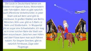 Учимся говорить по-немецки 54 (Общественный транспорт в Германии)