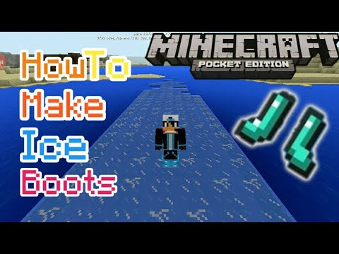 How To Make Ice Boots | Minecraft Pe | Tutorial