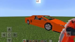 Minecraft Pe Modsuz Çalışan Araba Yapımı