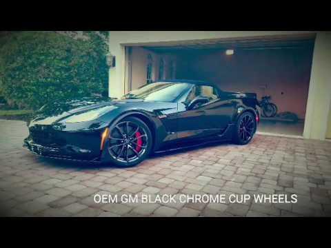 C6 Grand Sport >> OEM GM Black Chrome Corvette Cup/GS Wheels for C7 Z06 and C7 Grand Sport - YouTube