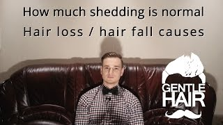 How much shedding is normal? Hair fall / hair loss causes | GentleHair