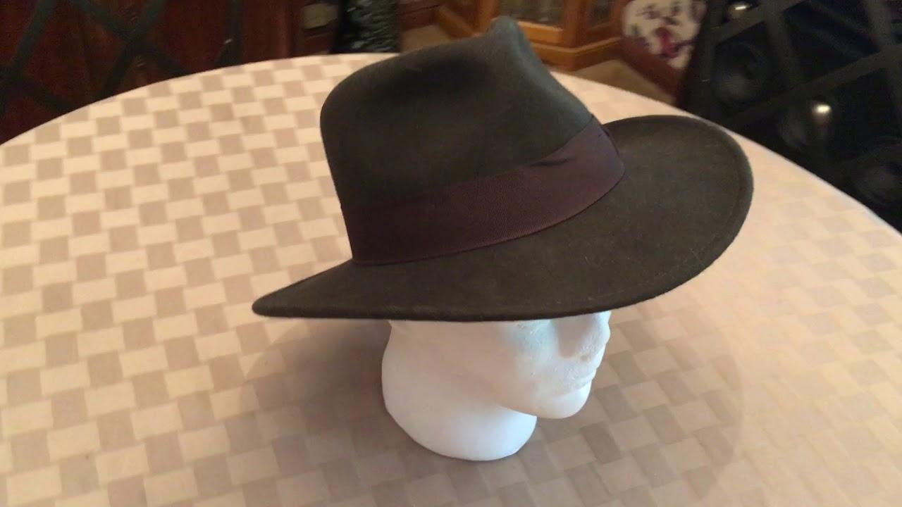Indiana Jones Wool Fedora Hat - YouTube f26faebb578