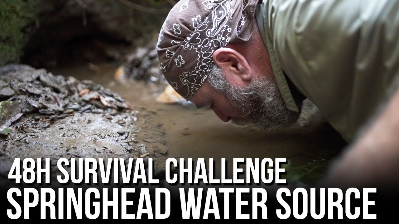48h Survival Challenge in the Wilderness - Springhead Water Source