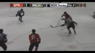 Cibo Kompanek - 1st goal in WSHL for Wichita Jr. Thunder