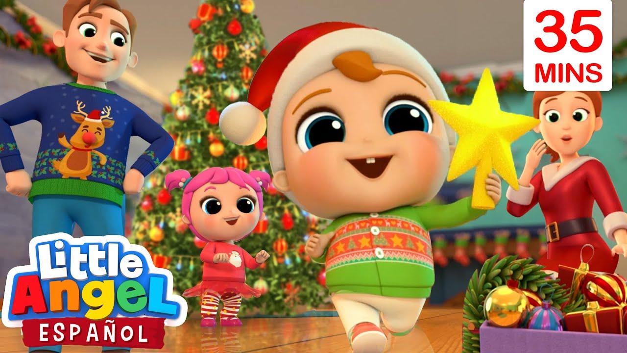 ¡Celebrando la Navidad en Familia! 🎅🏻🎄| Canciones de Bebé Juan | Little Angel Español