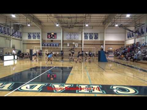 Morgan Brandmeyer 2019 #15 MB Chadwick High School Volleyball Fall 2016
