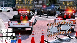 GTA 5 Mod DOT Emergency Message Board Truck Responding To Bank Robbery With Hostages & Shots Fired