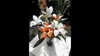 Flor de Lírio em Garrafa PET – Aula 2