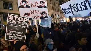 Protesters gather in DC on inaugural weekend