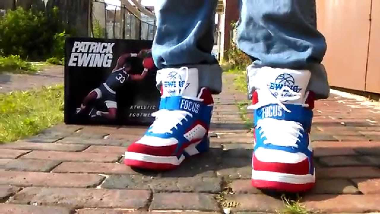watch e20a6 080f3 Dtlr x Ewing Focus Stars and Stripes On Feet