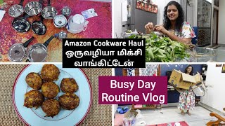 Full Day Routine Vlog in Tamil   Amazon Cookware Shopping Haul in Tamil Cabbage Egg Paniyaram Recipe