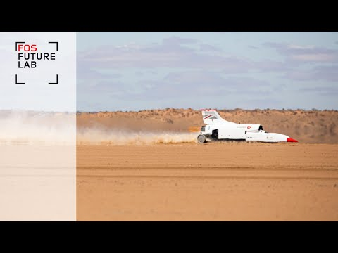 Onboard Bloodhound LSR's 334mph Land Speed Record practice run