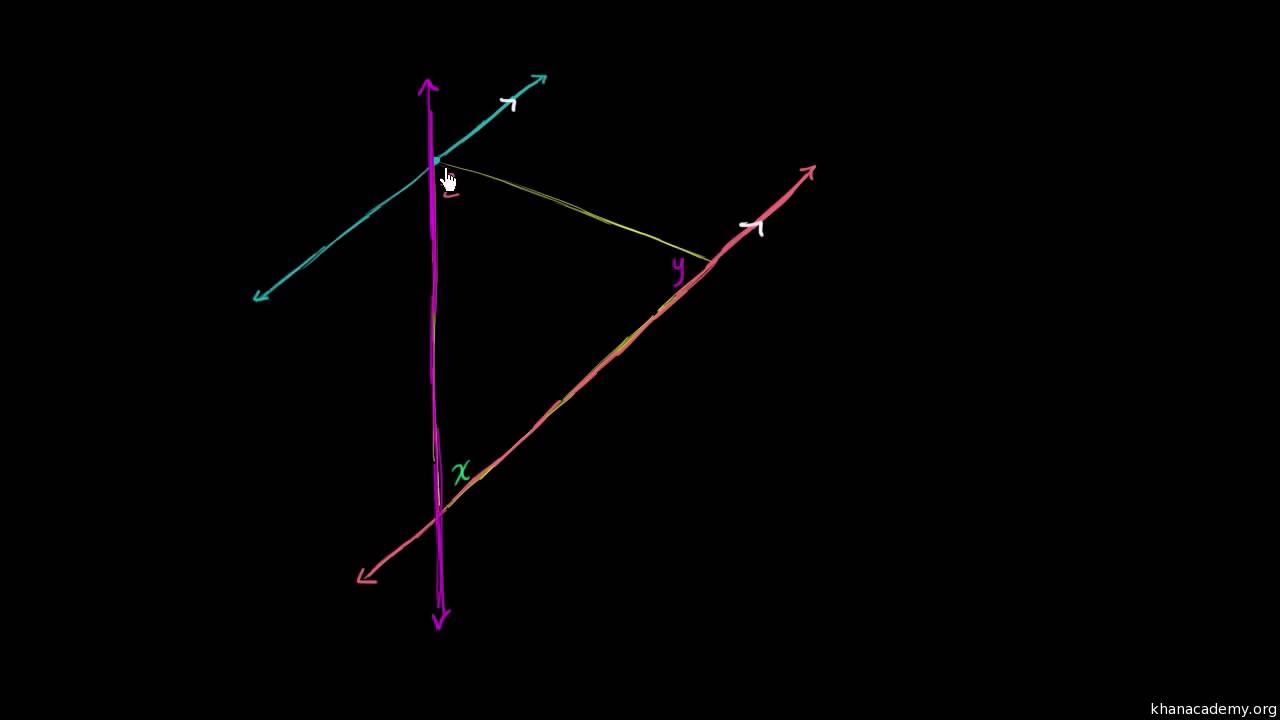Bevis - vinkelsummen i en trekant er 180