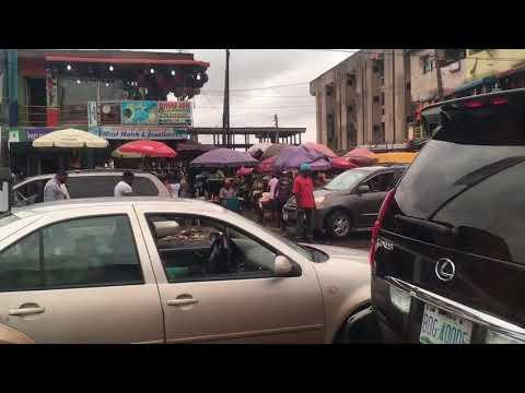 Crazy traffic in Lagos, Nigeria