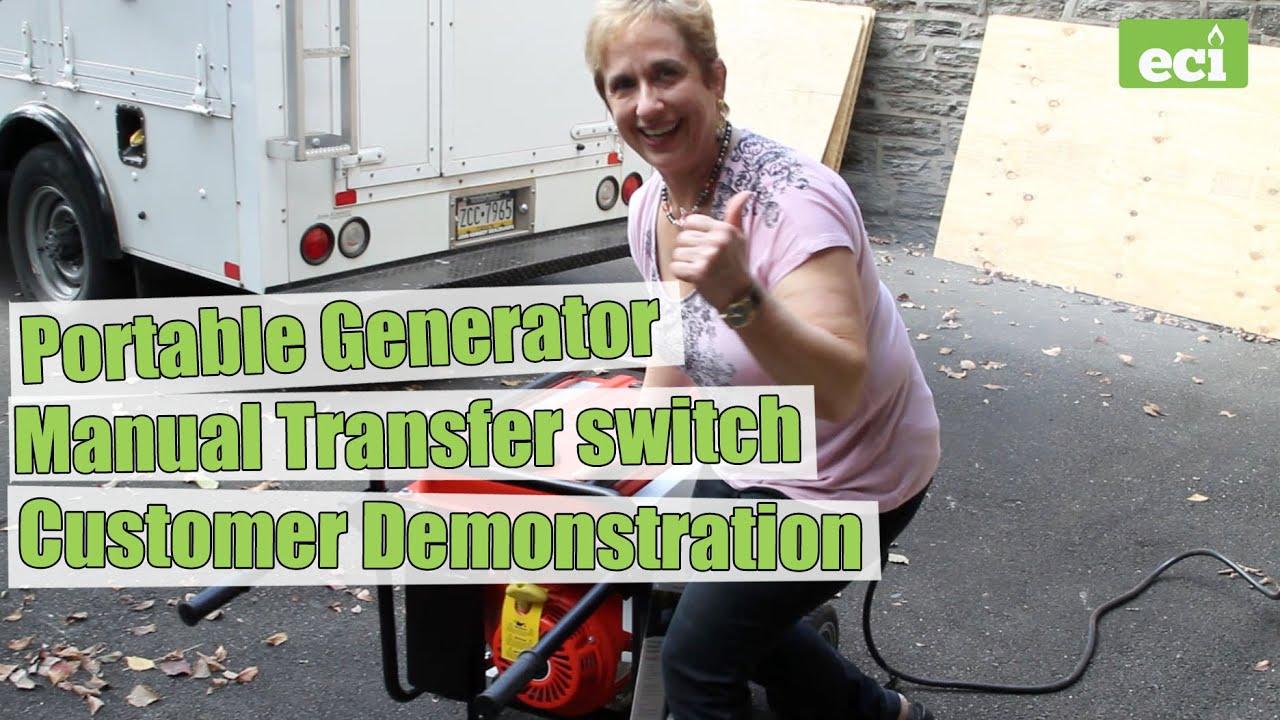 Portable Generator  U0026 Manual Transfer Switch